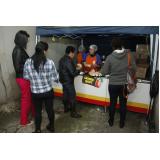barracas de comida para festas Belém