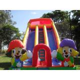 tobogã inflável para festa Água Funda